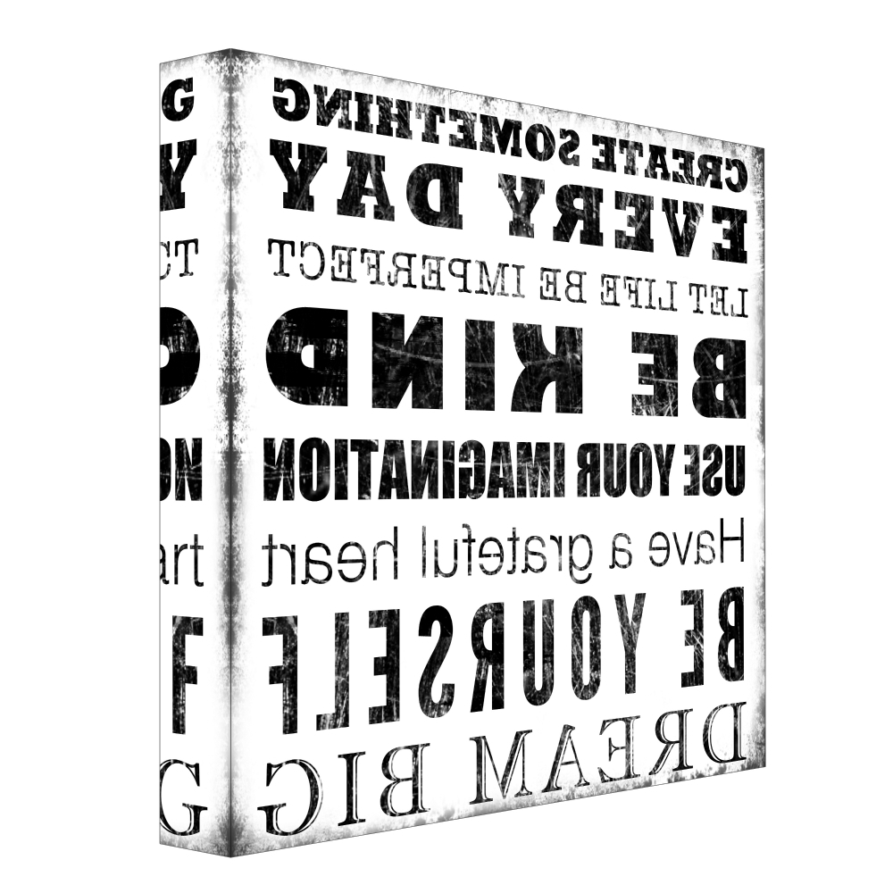 Fashionable Typography Canvas Wall Art Pertaining To Typography Archives – Ptmimages (View 3 of 15)