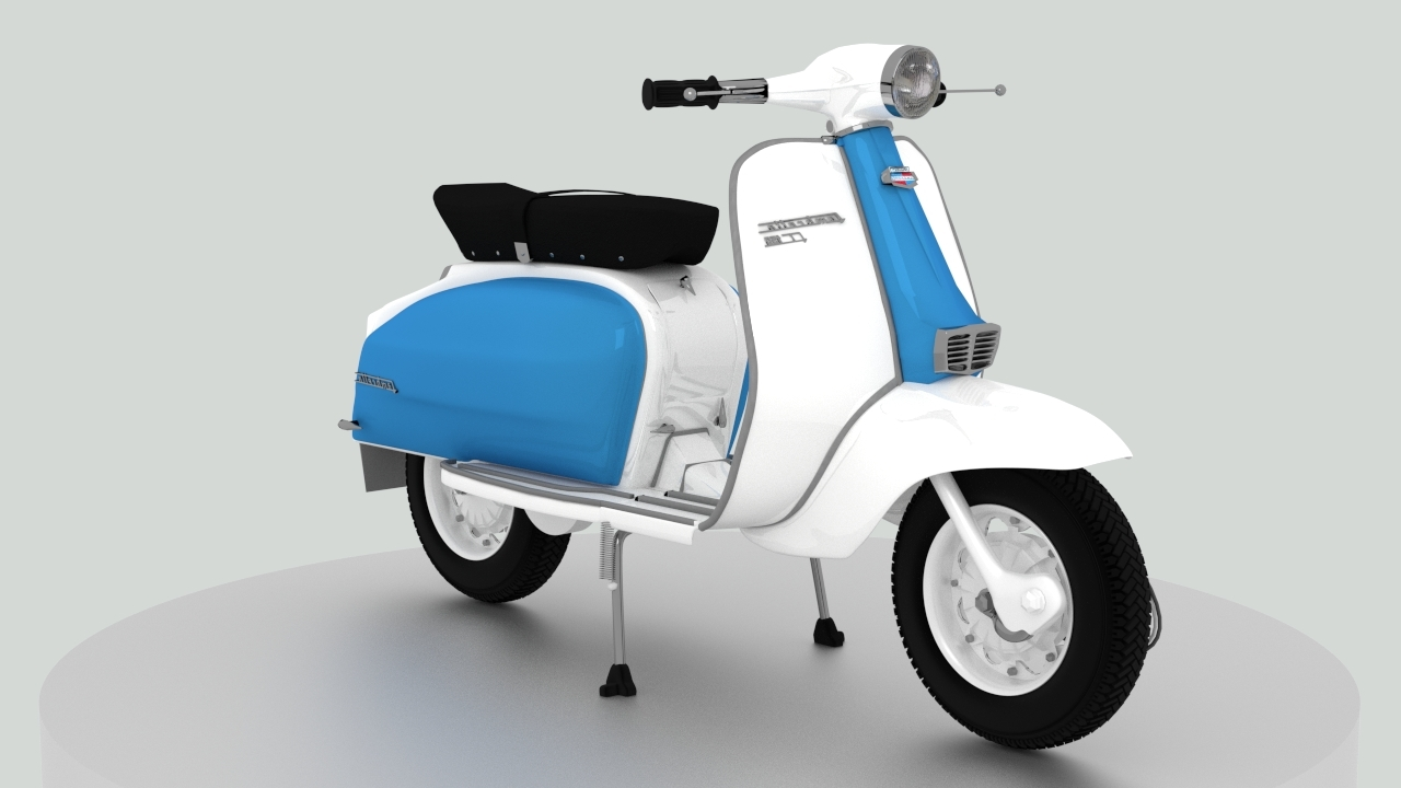 Fashionable Vespa 3D Wall Art With 1960S Lambretta Li125 Motor Scooter: Modeled And Textured In (View 3 of 15)