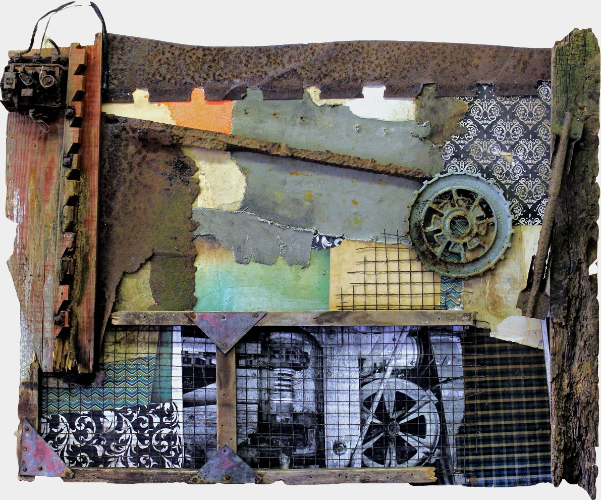 Fashionable Vintage Industrial Wall Art In Original Mixed Media Vintage Industrial Art Assemblagemichel (View 4 of 15)