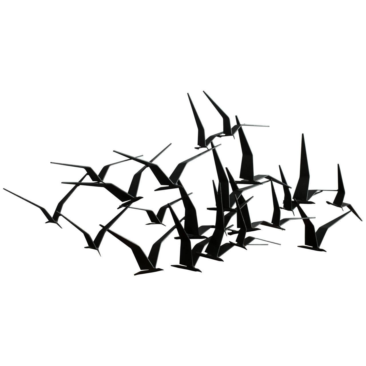 Featured Photo of Metal Wall Art Birds In Flight