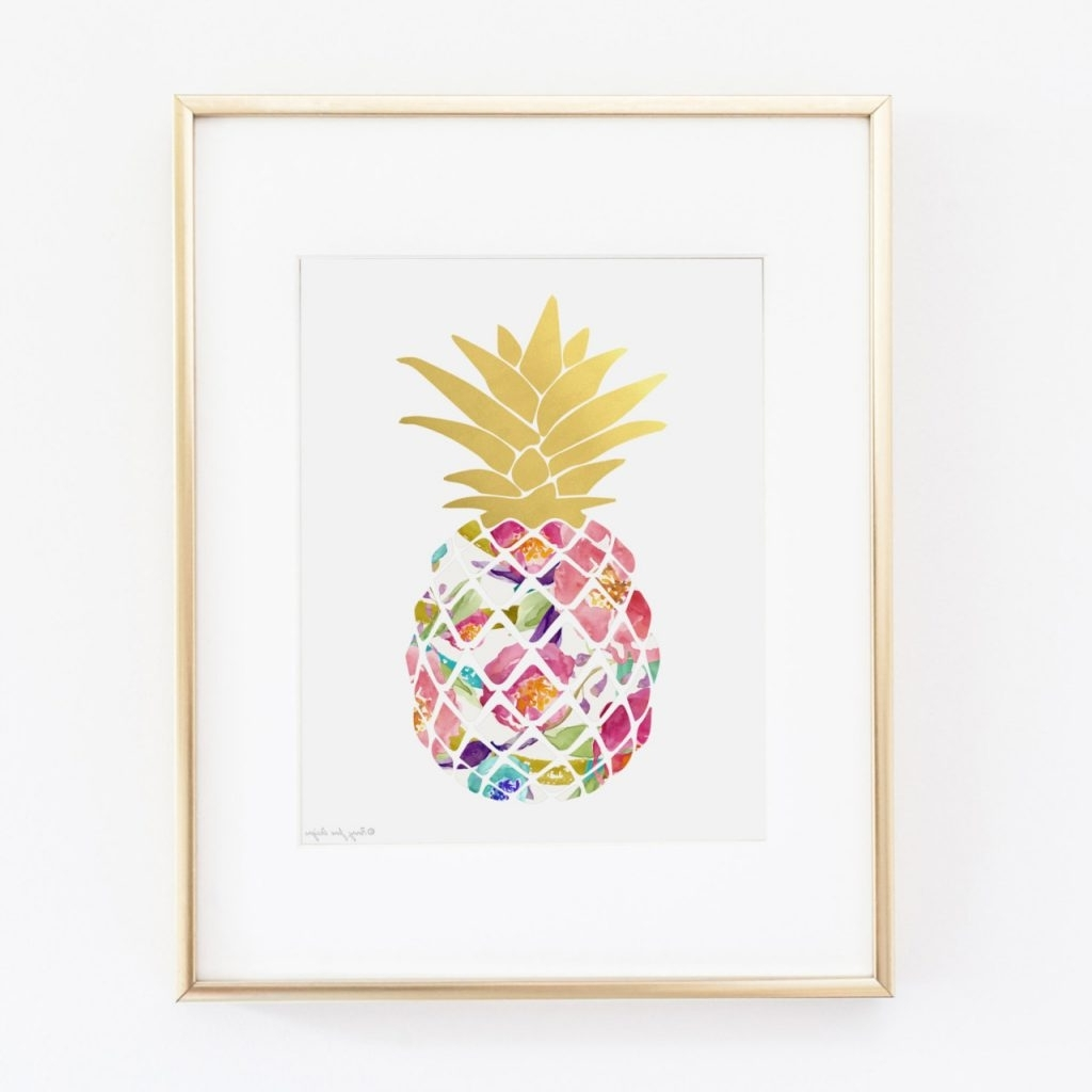 Fashionable Wall Art Design Ideas: Top Pineapple Wall Art Metal, Pineapple Inside Pineapple Metal Wall Art (View 7 of 15)