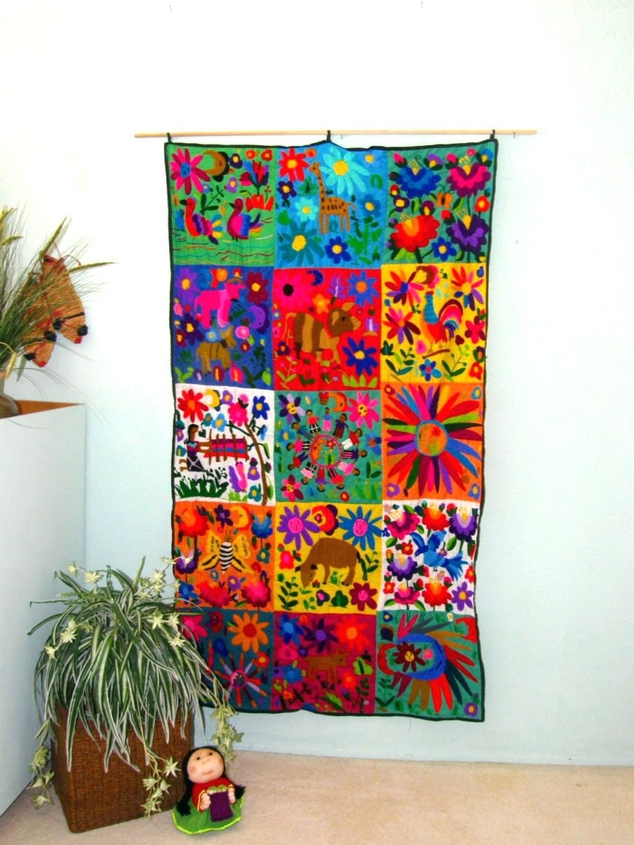 Fashionable Wall Arts ~ Charming Mexican Metal Sun Wall Art Hand Embroidered For Mexican Metal Art (View 5 of 15)