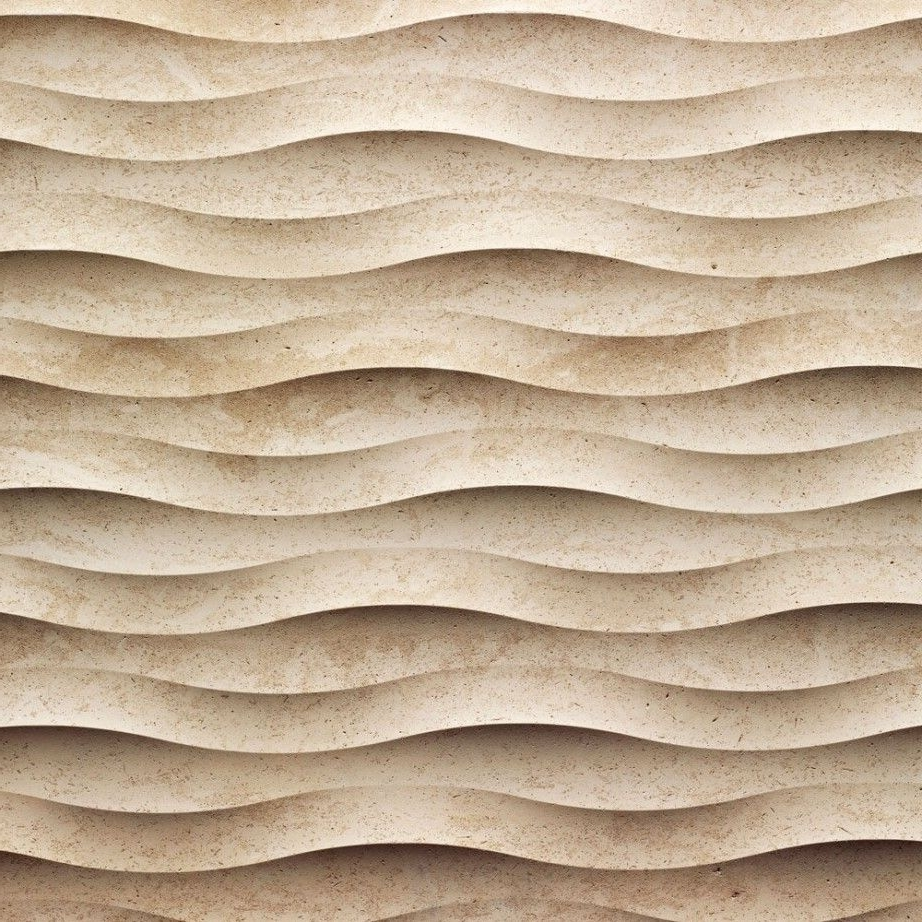 Fashionable Waves 3D Wall Art Regarding Interior Timber Cladding Feature Wall – Could Be Easily Recreated (View 5 of 15)