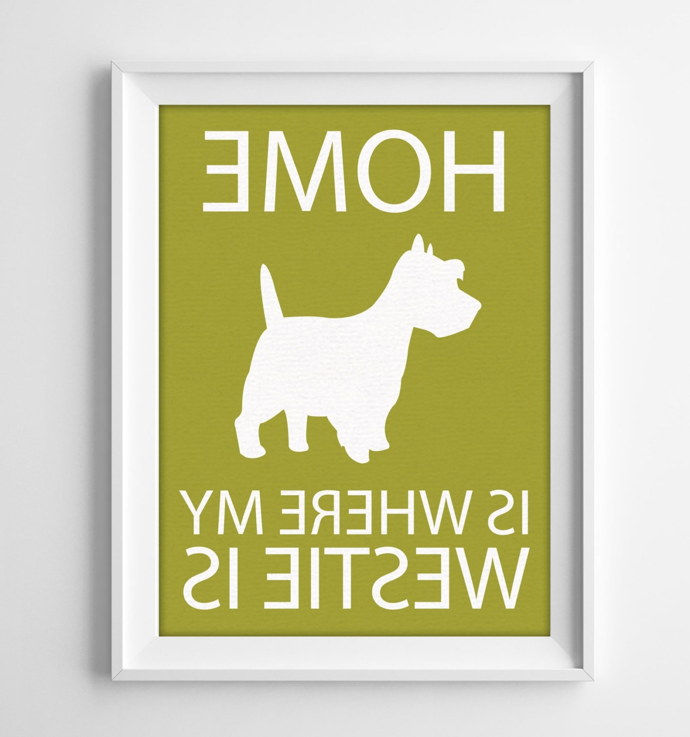 Fashionable Westie Wall Art In 8X10 Westie Wall Art Illustrated Dog Art Westie Decor (View 2 of 15)