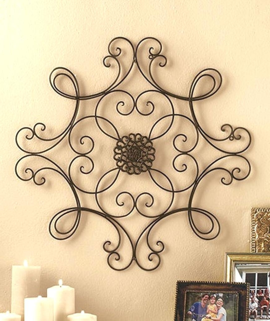 Faux Metal Wall Decor • Walls Decor Regarding Best And Newest Faux Wrought Iron Wall Art (View 3 of 15)