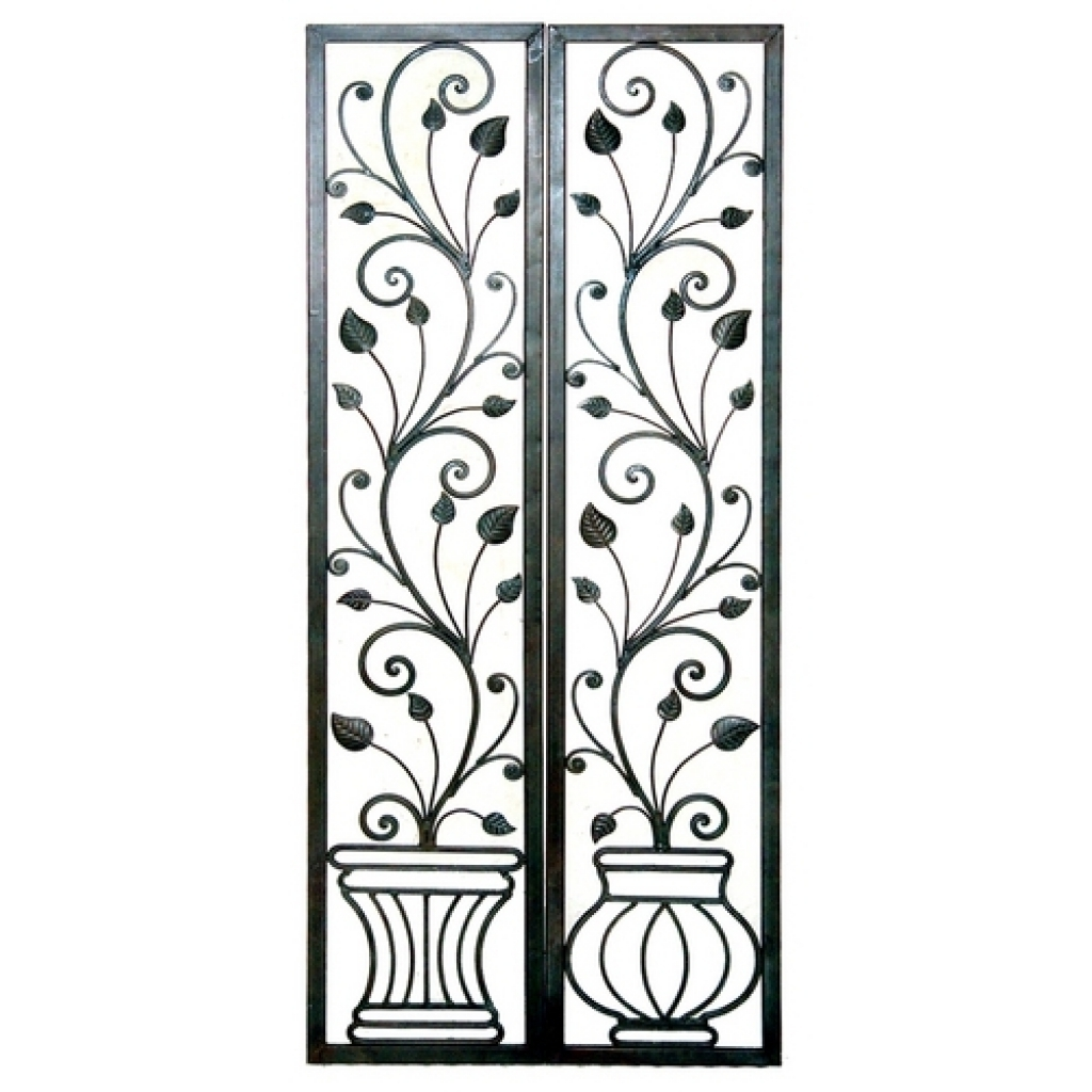 Faux Wrought Iron Wall Decors Inside Well Liked Wrought Iron Decorative Wall Panels Wall Decor Nice Decorative (View 12 of 15)
