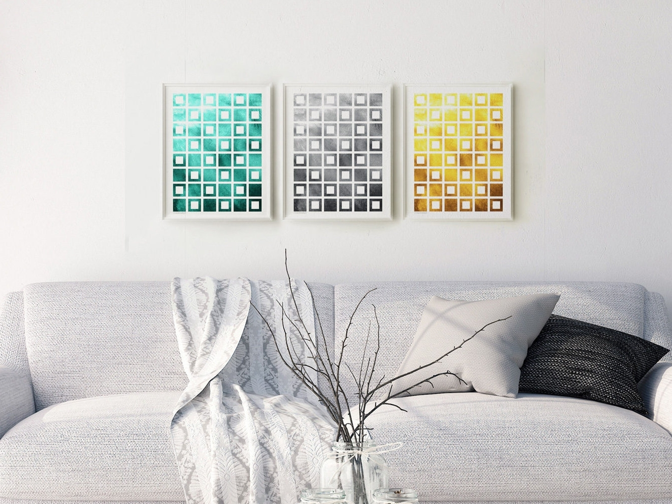 Favorite 3 Piece Abstract Wall Art For Geometric Print Set Download, 3 Piece Abstract Wall Decor (View 10 of 15)