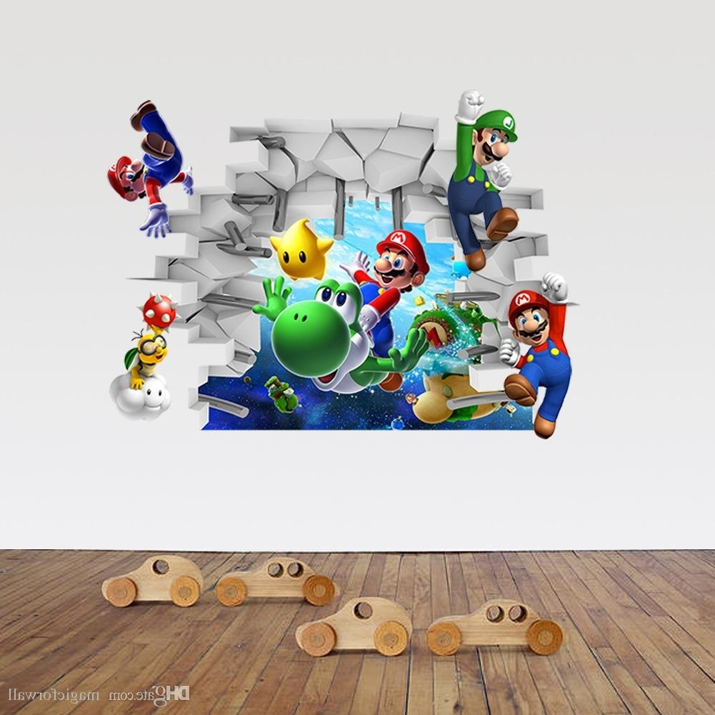Favorite 3D Cartoon Wall Art Mural Decor Sticker Kids Room Nursery Wall Inside 3D Wall Art For Baby Nursery (View 7 of 15)
