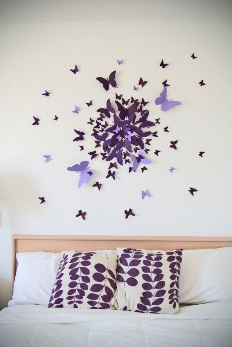 Favorite 3D Wall Art Decor Diy Home Decor Ideas Inside 79 Diy Wall Art Intended For Butterflies 3D Wall Art (View 7 of 15)