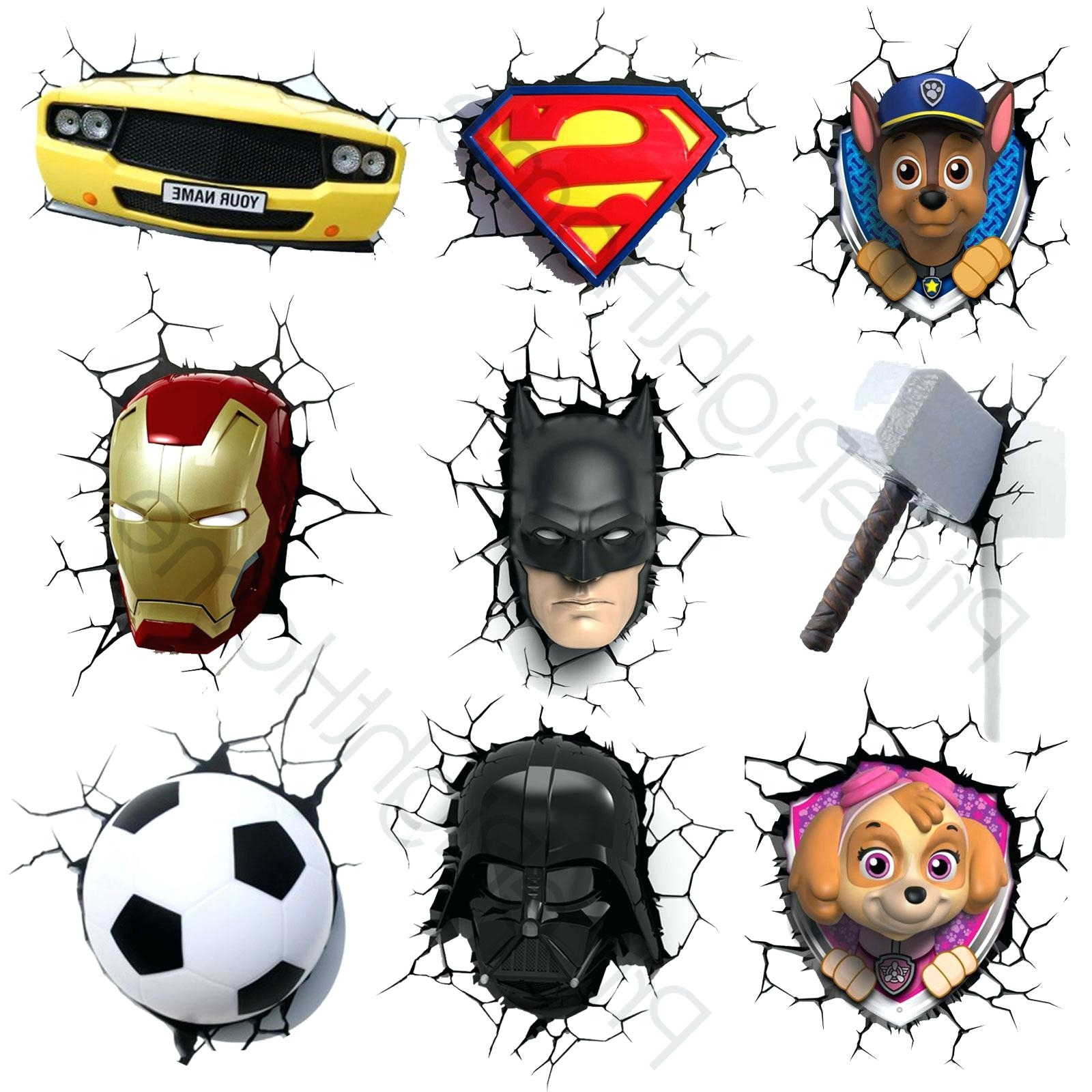 Favorite 3D Wall Lights S R 3D Wall Art Night Light Australia Marvel 3D Within 3D Wall Art Night Light Australia (View 9 of 15)