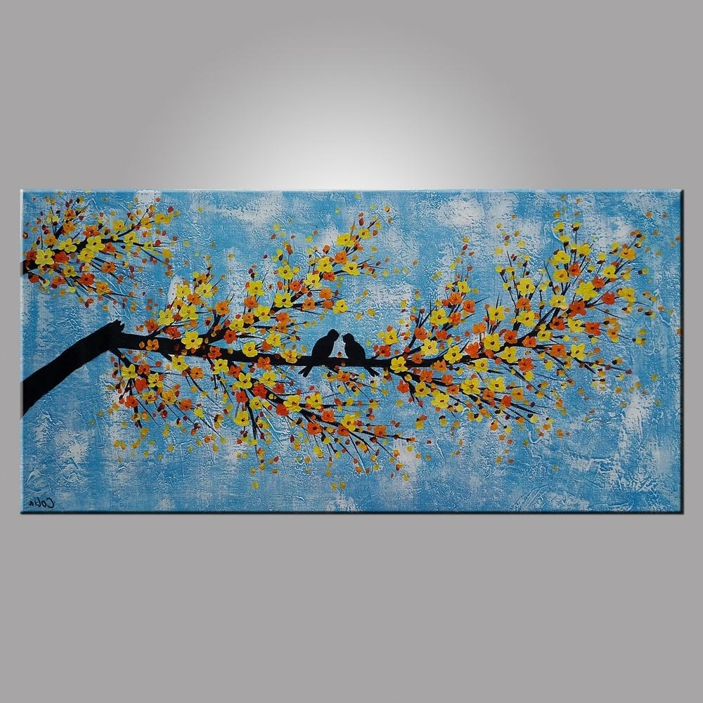 Favorite Abstract Bird Wall Art With Regard To Abstract Art, Love Birds Painting, Bedroom Wall Art, Abstract (View 9 of 15)
