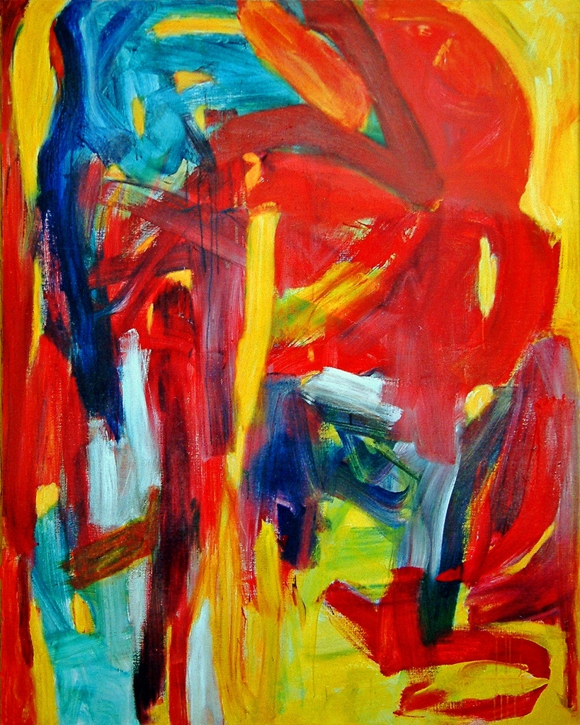 Favorite Abstract Expressionism Wall Art Pertaining To 1993 – 'fathers Must Die', Abstract Expressionist Painting… (View 7 of 15)