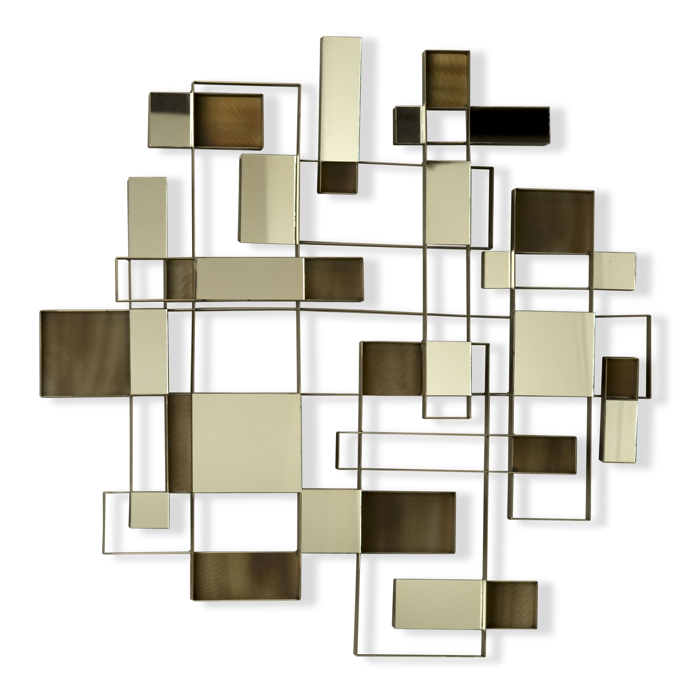 Favorite Abstract Mirror Wall Art Intended For Nova Angles Wall Art Mirror  (View 6 of 15)