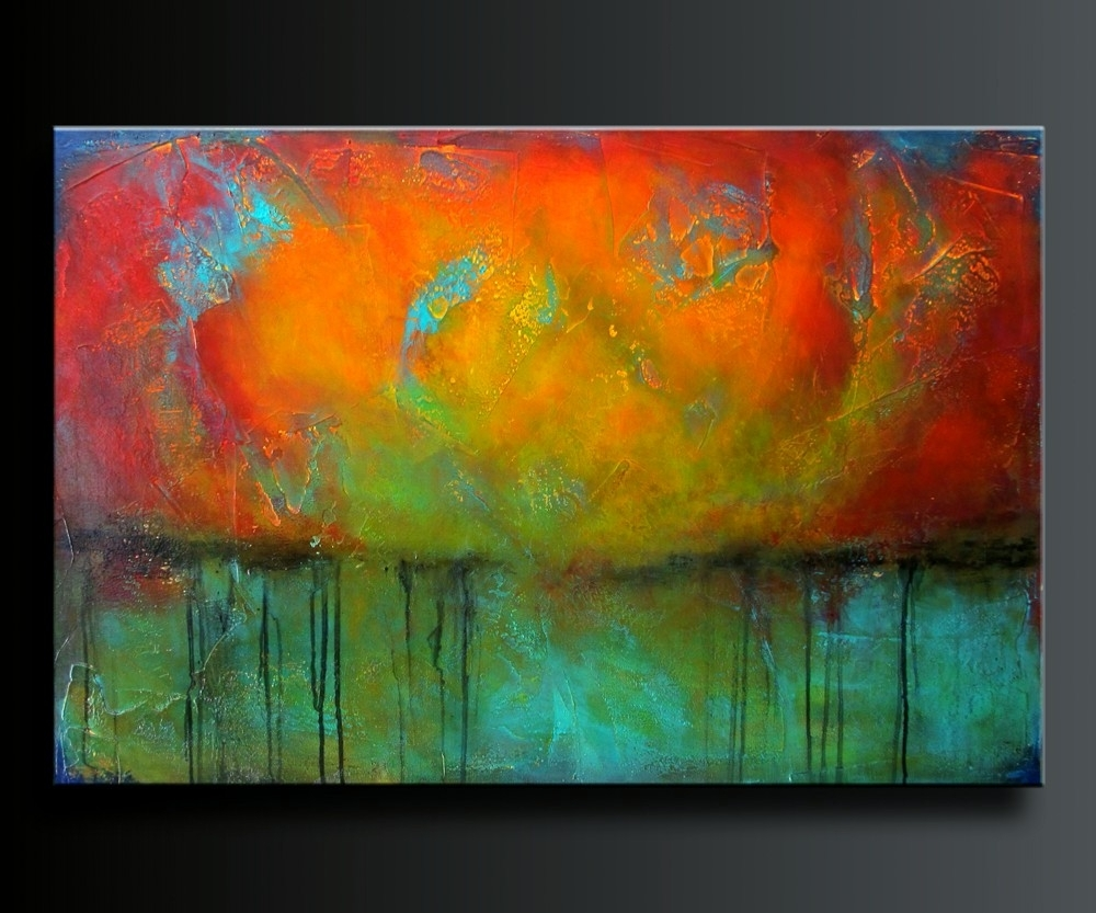 Favorite Acrylic Abstract Wall Art Within Abstract Acrylic Painting. Contemporary Wall Art (View 8 of 15)