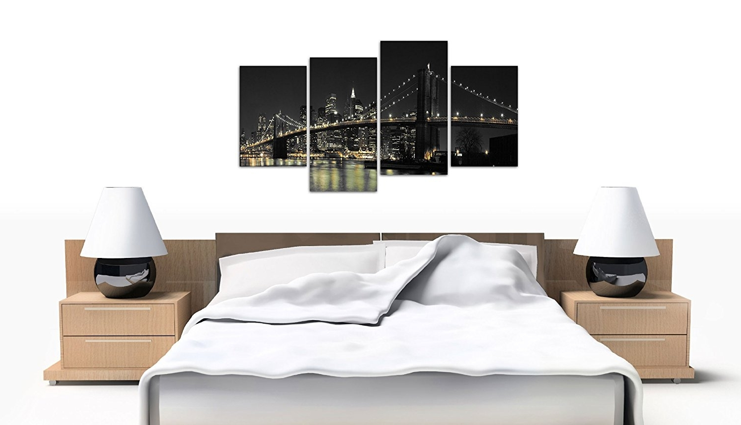 Favorite Amazon: Large New York City Canvas Wall Art Pictures Of Nyc Inside Black And White New York Canvas Wall Art (View 8 of 15)
