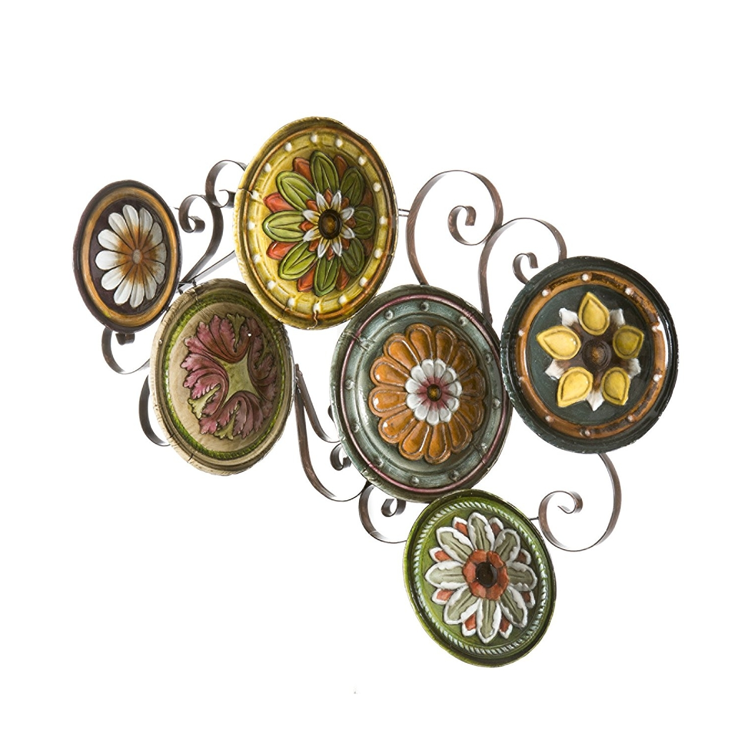 Favorite Amazon: Sei Scattered Italian Plates Wall Art: Wall Sculptures Regarding Scattered Italian Plates Wall Art (View 4 of 15)
