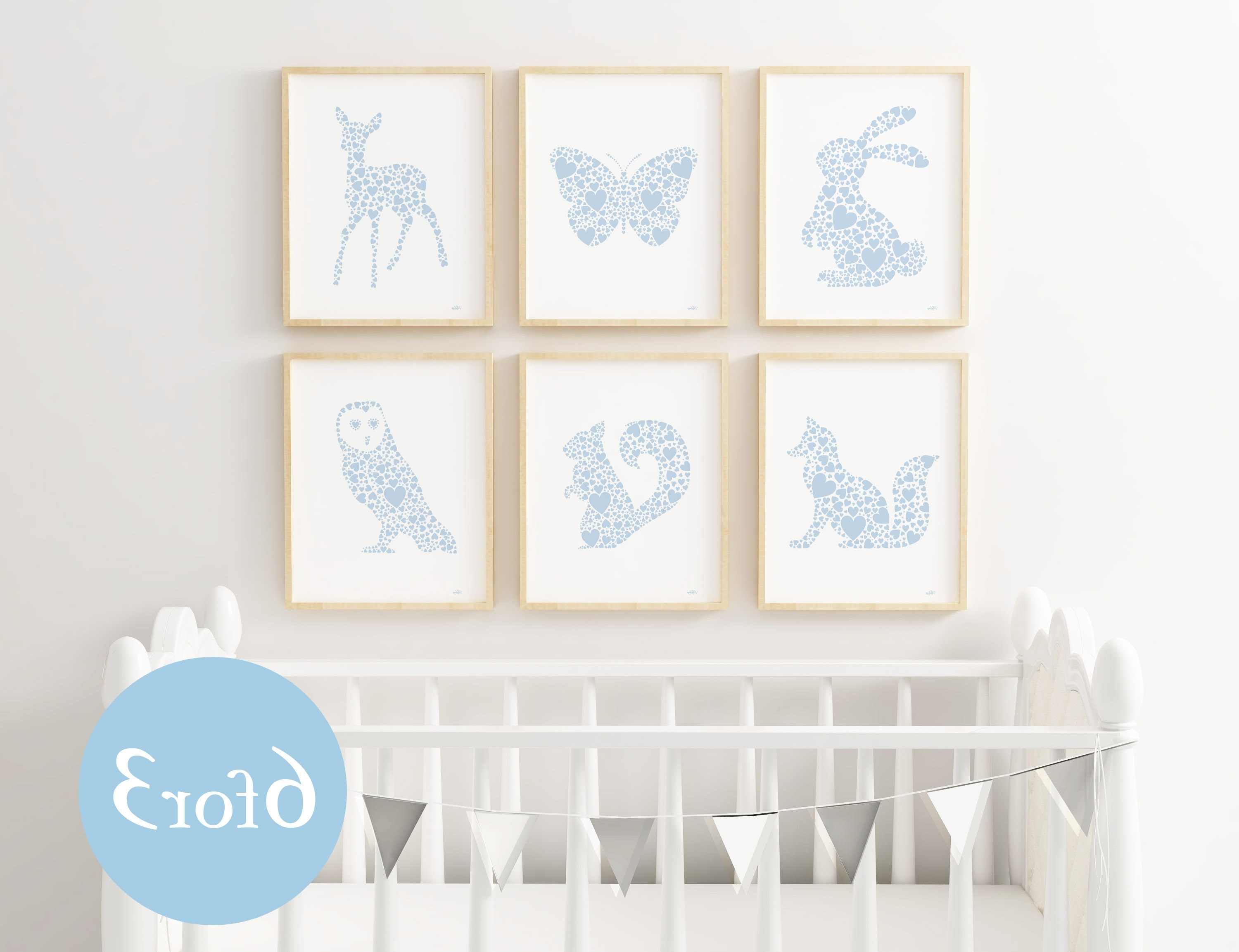 Favorite Animal Wall Art Regarding Woodland Nursery Print Set (View 6 of 15)