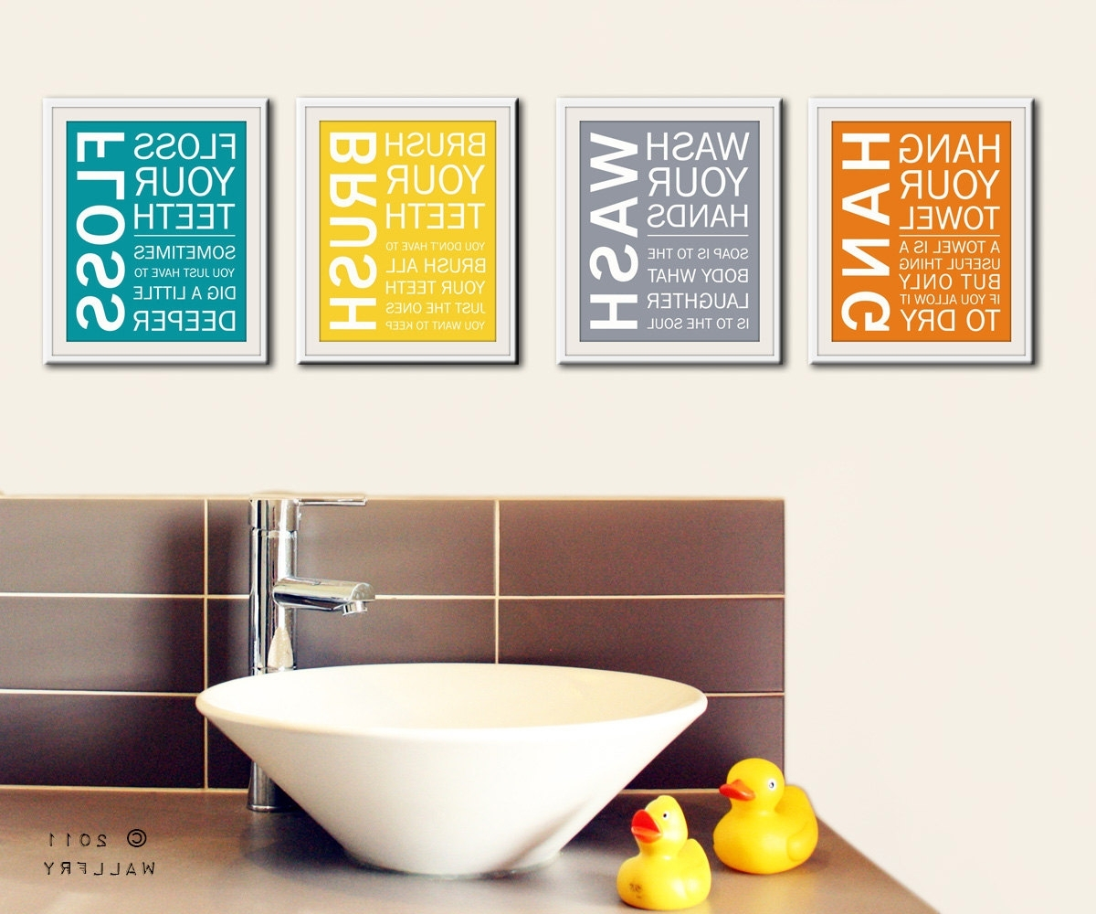 Favorite Bathroom Art Prints. Bathroom Rules (View 3 of 15)