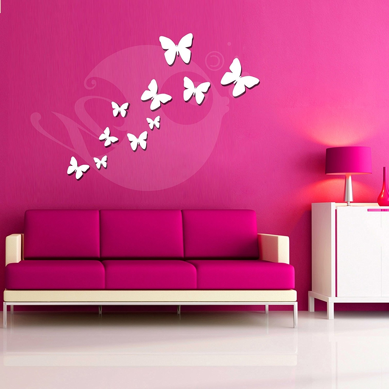 Favorite Bedroom 3D Wall Art Intended For Buy Butterflies Acrylic 3D Wall Art Sticker (10 Pieces) Online At (View 8 of 15)