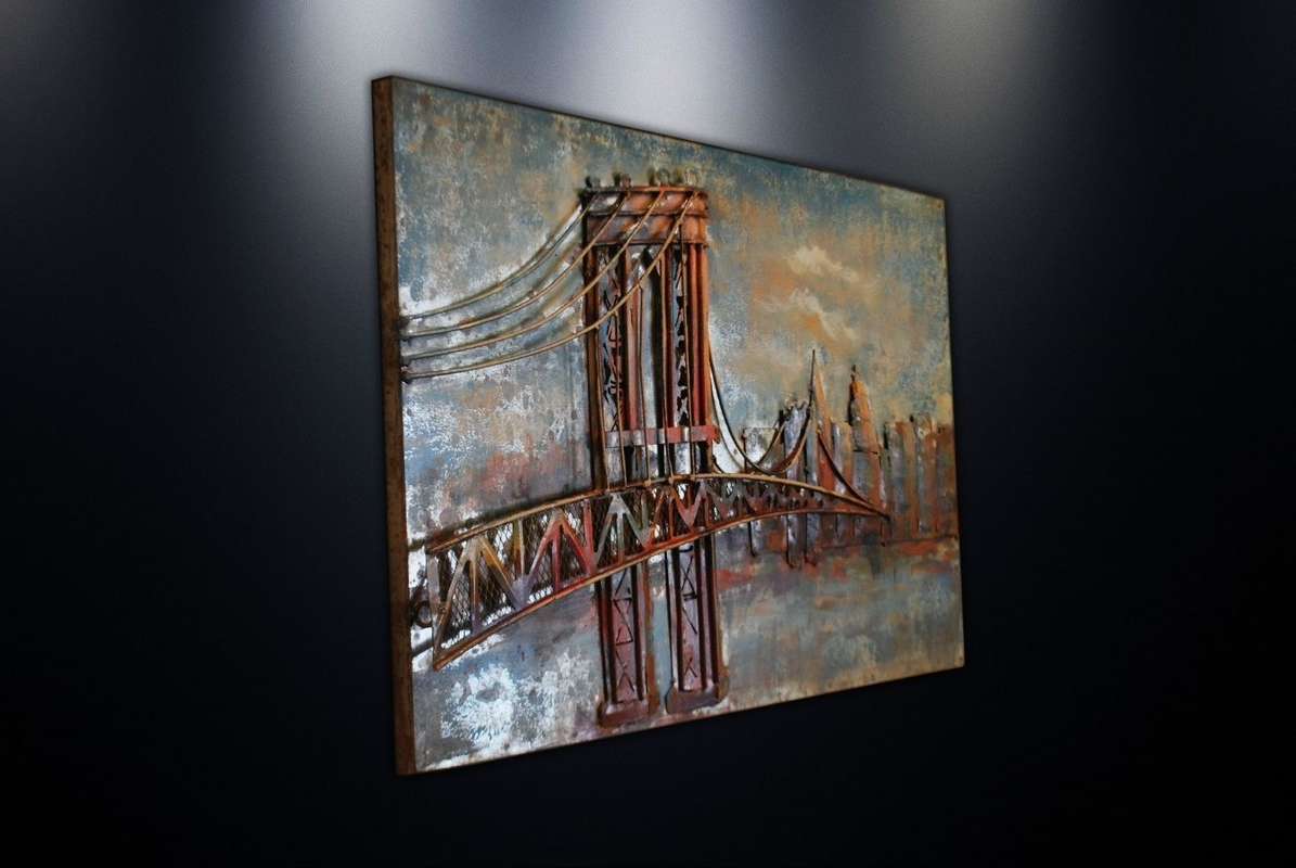 Favorite Brooklyn Bridge Metal Wall Art With Dsd Group Metal Wall Art Sculpture Home Decor 'brooklyn Bridge (View 4 of 15)