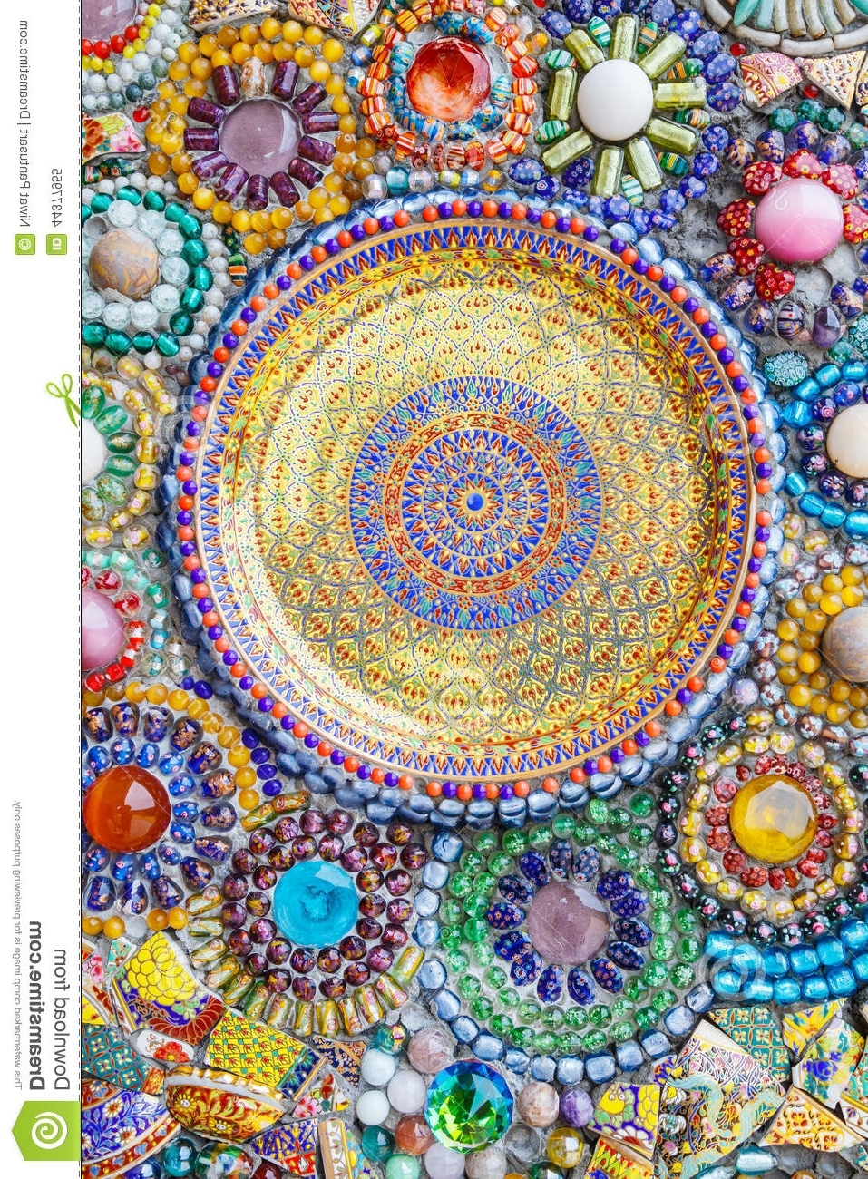 Favorite Colorful Mosaic Art Abstract Wall Background Stock Image – Image With Regard To Abstract Mosaic Art On Wall (View 10 of 15)