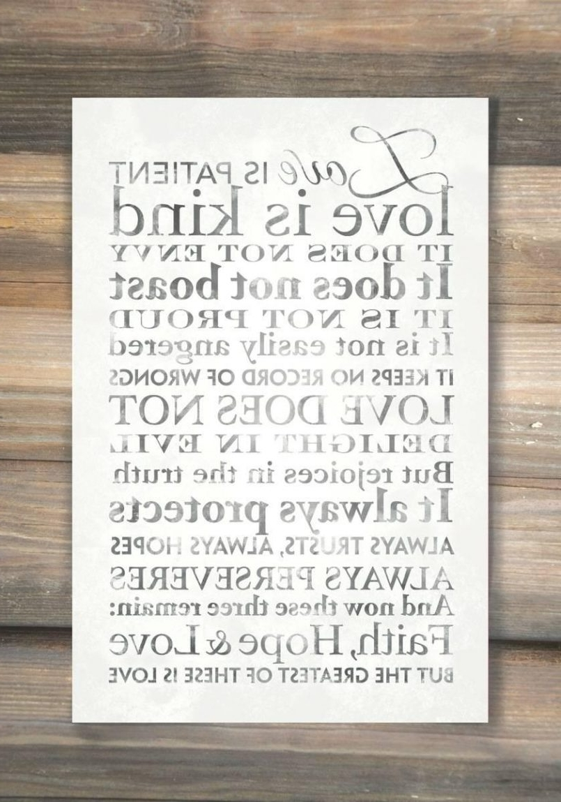 Favorite Colors : Love Is Patient, Word Art Print Lds Wall Art Intended For In Love Is Patient Love Is Kind Wall Art (View 7 of 15)
