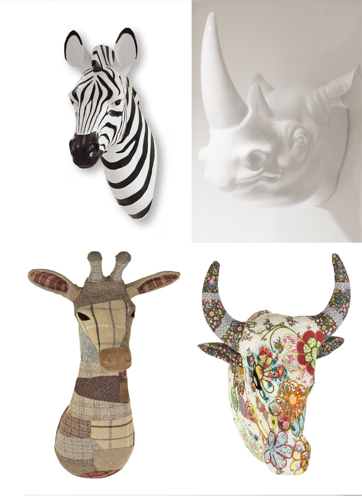Favorite Contemporary Animal Head Wall Art 3D Wall Mountable Zebra, Giraffe With Zebra 3D Wall Art (View 5 of 15)