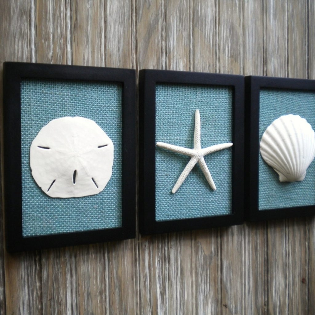 Favorite Cottage Chic Set Of Beach Decor Wall Art Nautical Decor To Beach With Beach Cottage Wall Art (View 5 of 15)