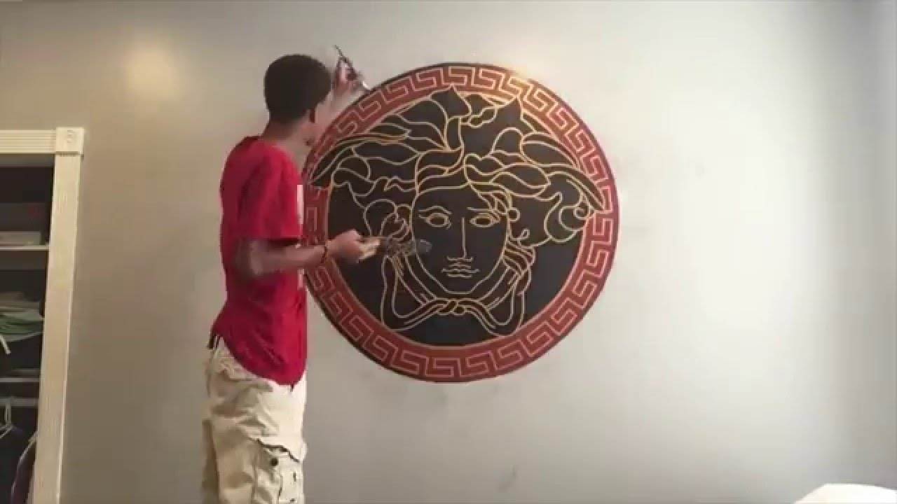 Favorite Drawing Of Versace Logo (Time Lapse) – Youtube Intended For Versace Wall Art (View 2 of 15)