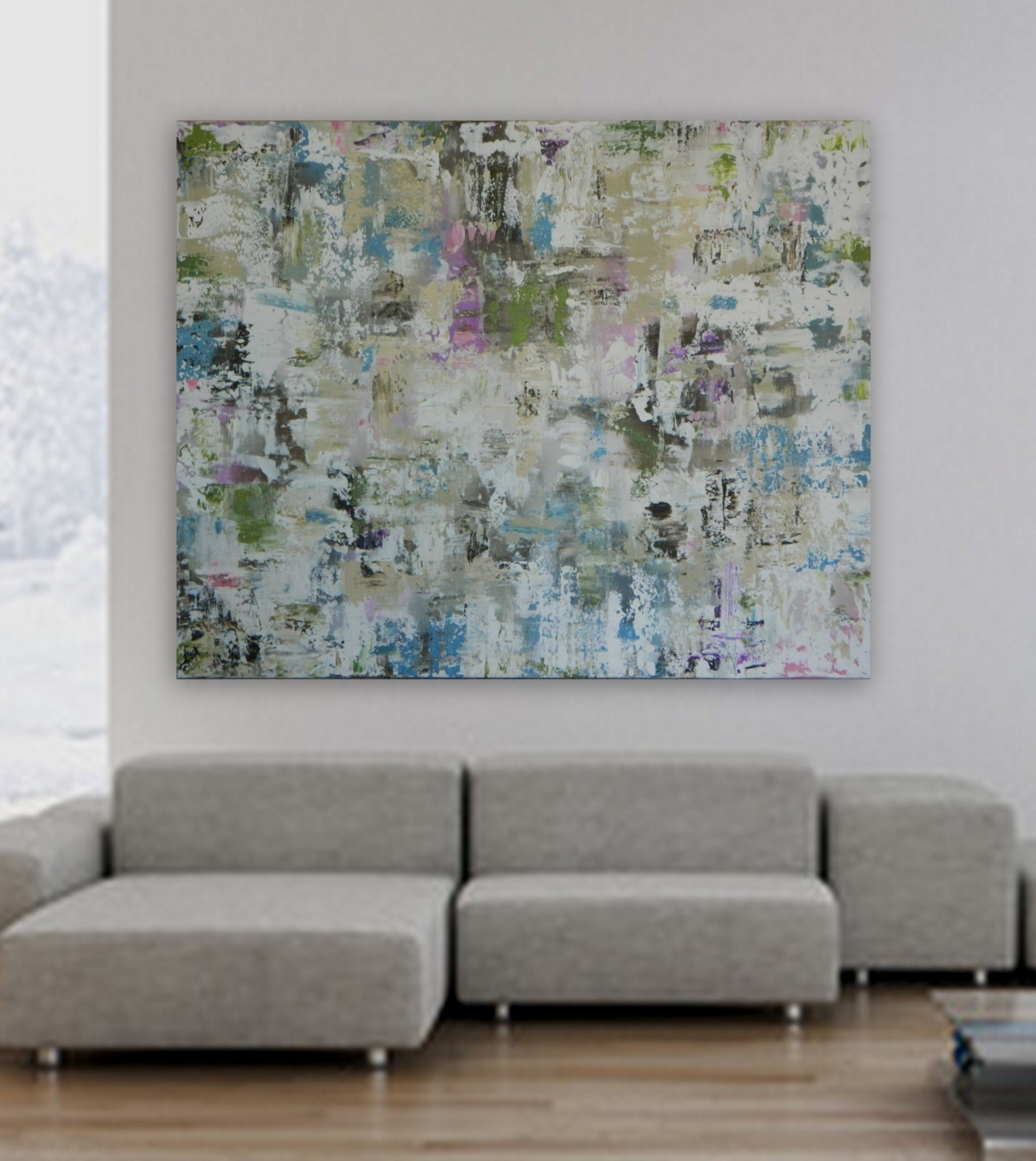 """Favorite Extra Large Xl Huge 48"""" X 60"""" Custom Paintingmarcy Chapman Pertaining To Modern Abstract Huge Wall Art (View 5 of 15)"""