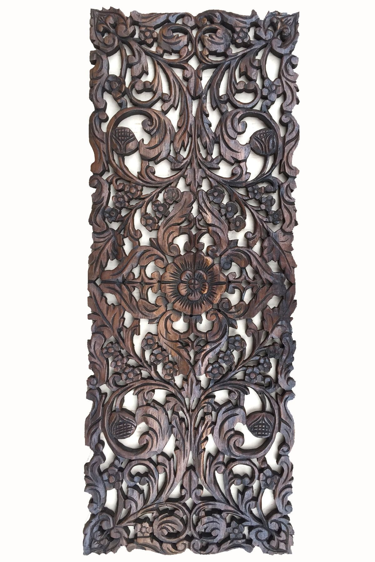 Favorite Floral Wood Carved Wall Panel (View 6 of 15)