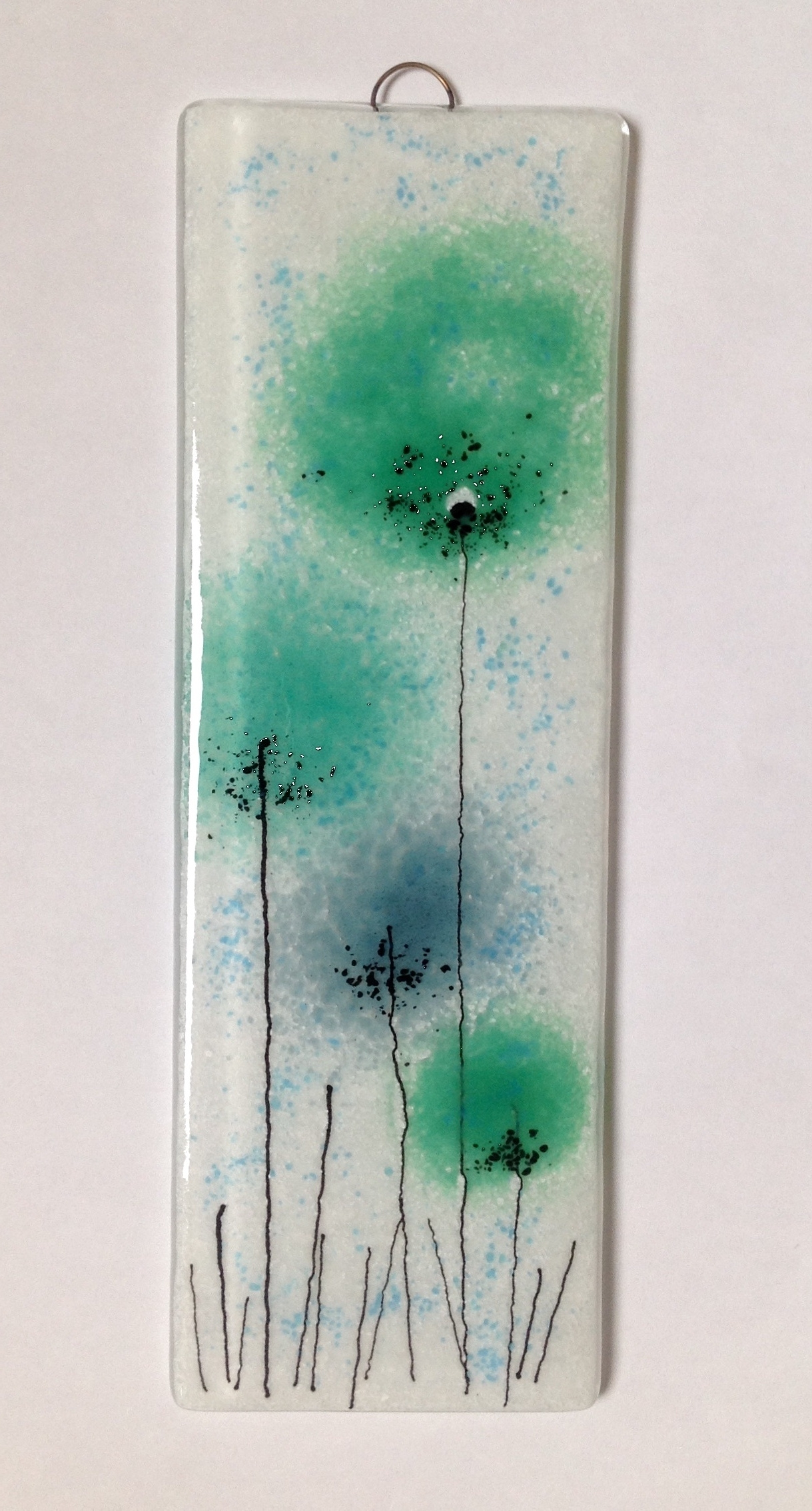 Favorite Fused Glass Flower Wall Art For Green Flowers Fused Glass Panel #fusedglass #wallart Https://www (View 4 of 15)
