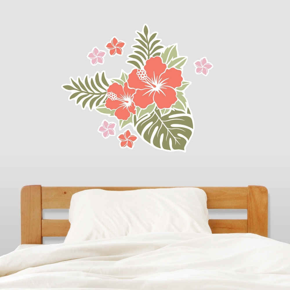 Favorite Hawaiian Wall Art Intended For Hawaiian Flowers Wall Decal Sticker (View 6 of 15)