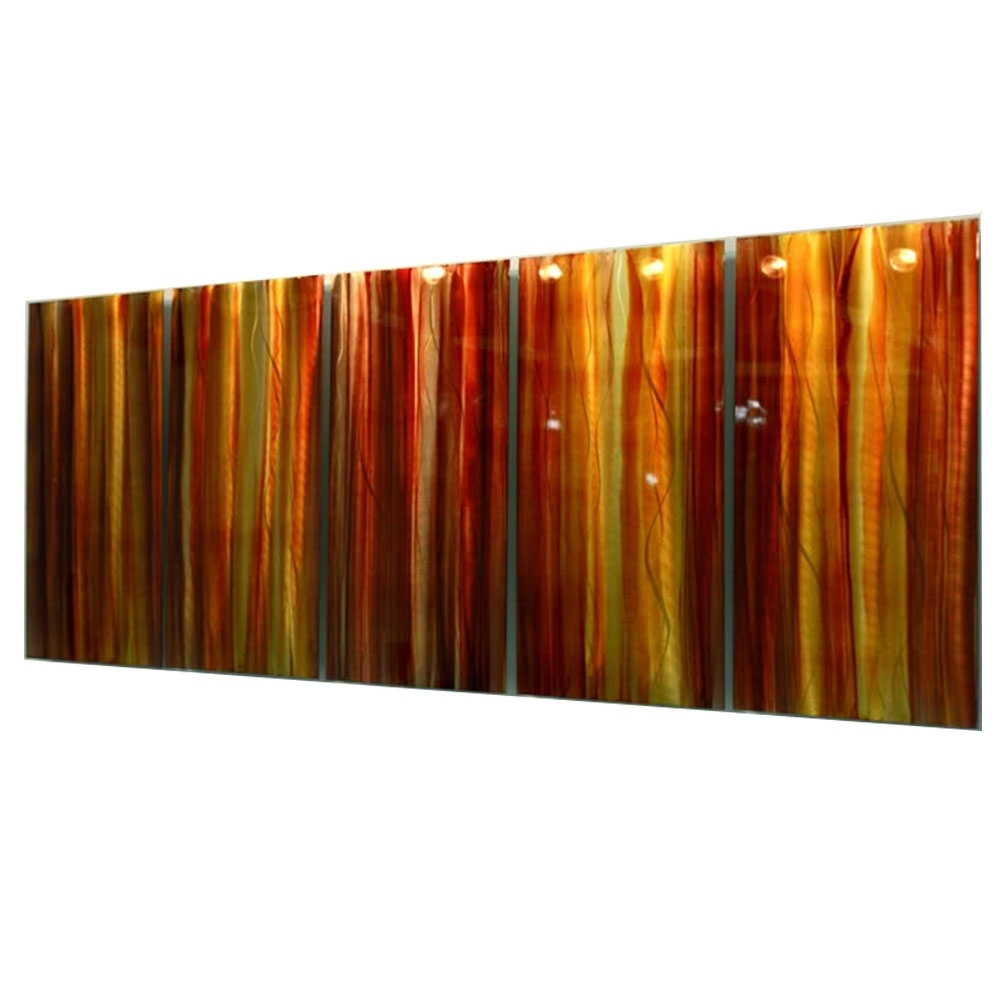 Favorite Horizontal Metal Wall Art Pertaining To Autumns Prism – Red, Yellow & Orange Contemporary Metal Wall Art (View 4 of 15)
