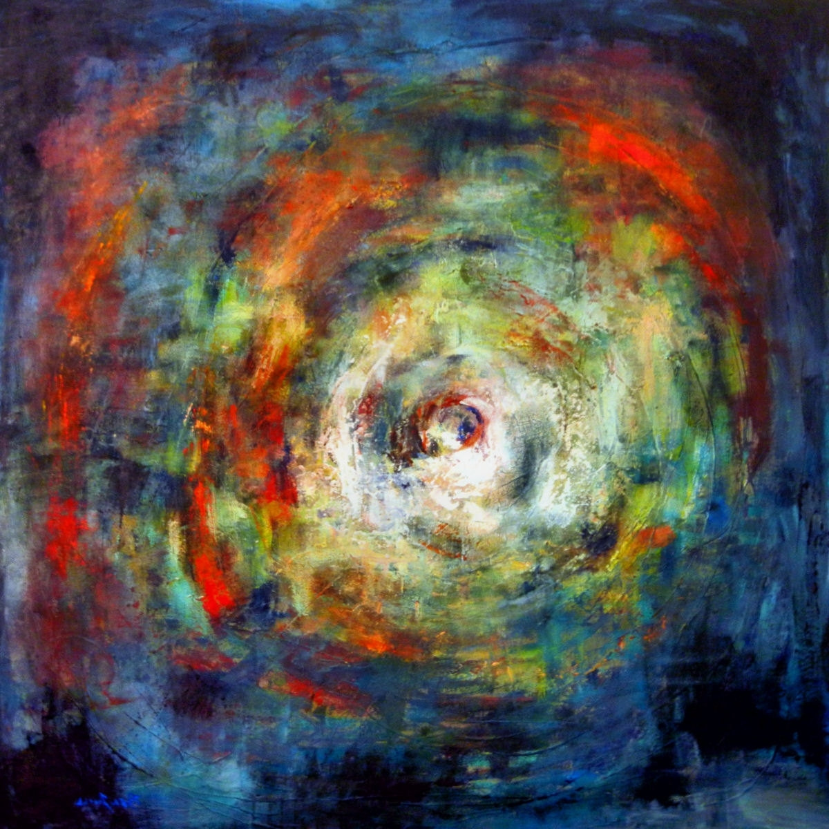 Favorite Huge Vortex Art Abstract Painting On Canvas – 48X48 – Modern Wall With 48X48 Canvas Wall Art (View 6 of 15)
