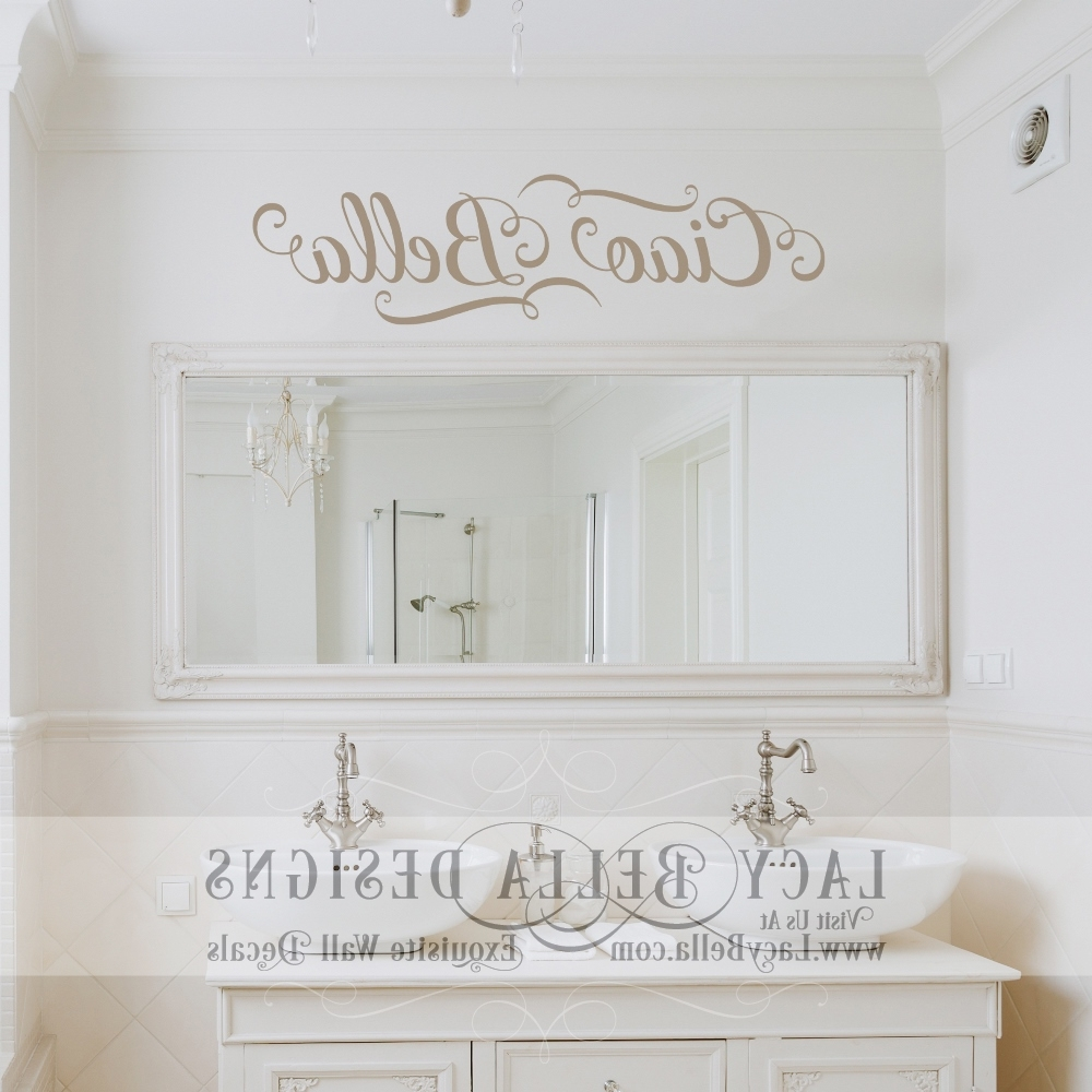 "Favorite Italian Words Wall Art Inside Ciao Bella"" Italian Quote For ""hello Beautiful"" Wall Art Decal (View 5 of 15)"