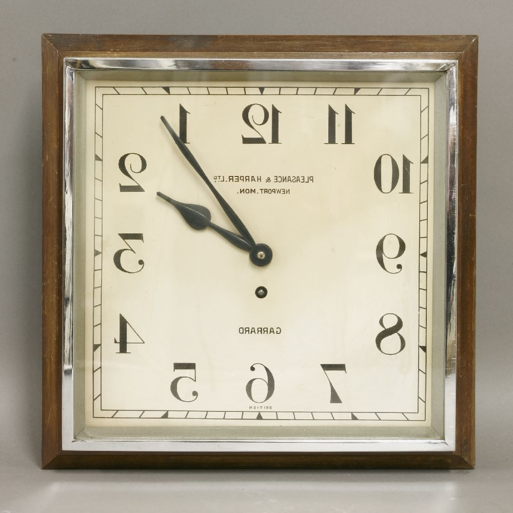 Favorite Large Art Deco Wall Clocks With Winsome Wall Clock Art Deco 129 Art Deco Wall Clock Antique Art (View 4 of 15)