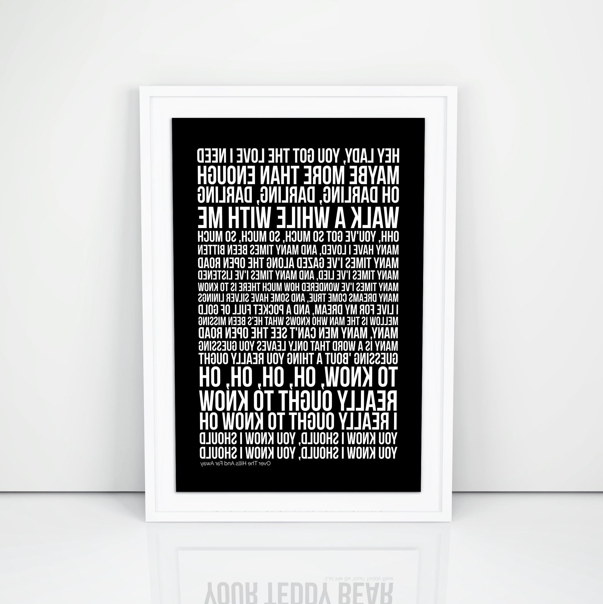 Favorite Led Zeppelin Wall Art Within Led Zeppelin Over The Hills And Far Away Lyrics Poster Print Wall (View 4 of 15)
