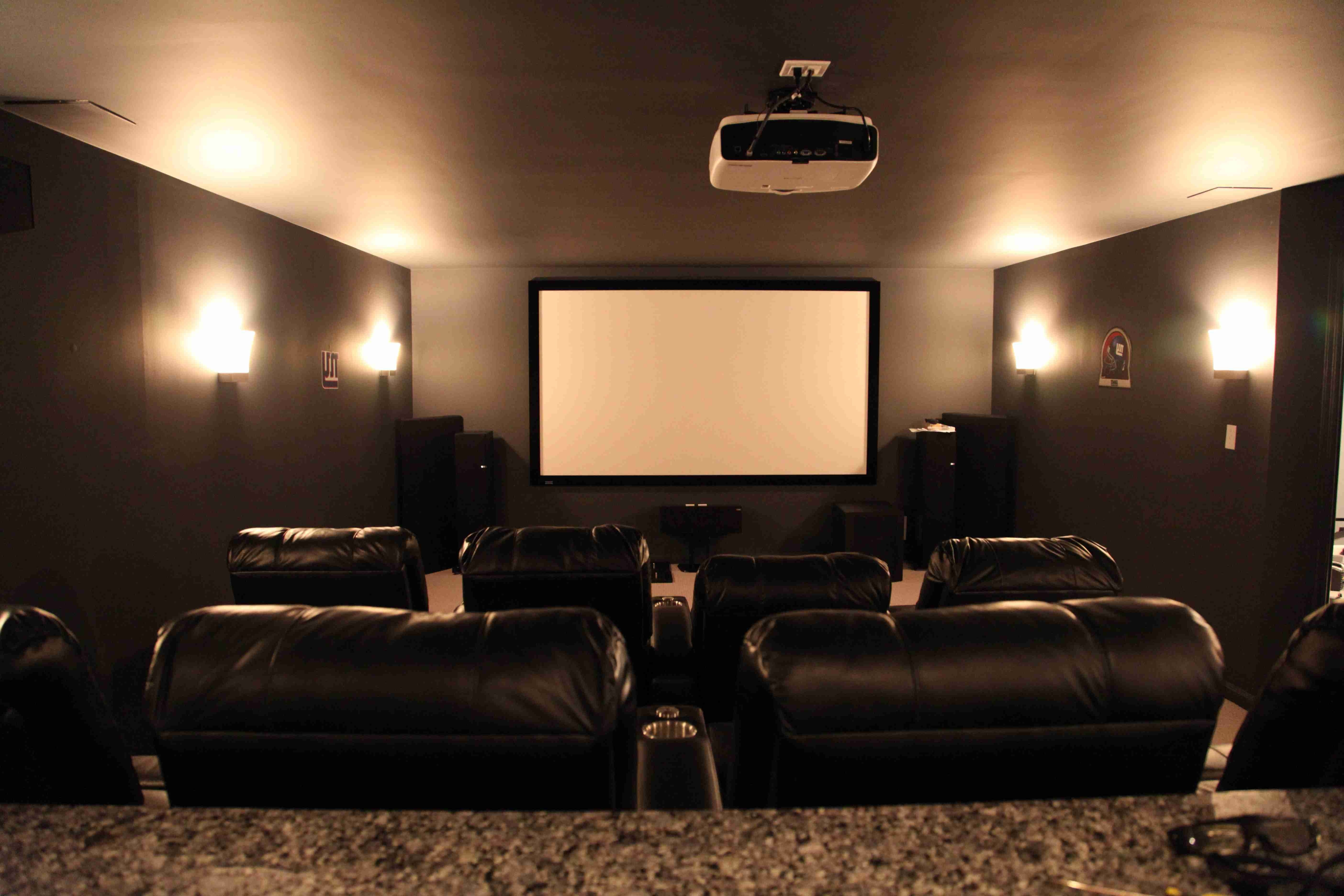 Favorite Media Room Wall Art Pertaining To Interior Design Basement Media Room Design Ideas Home Ideas Design (View 4 of 15)