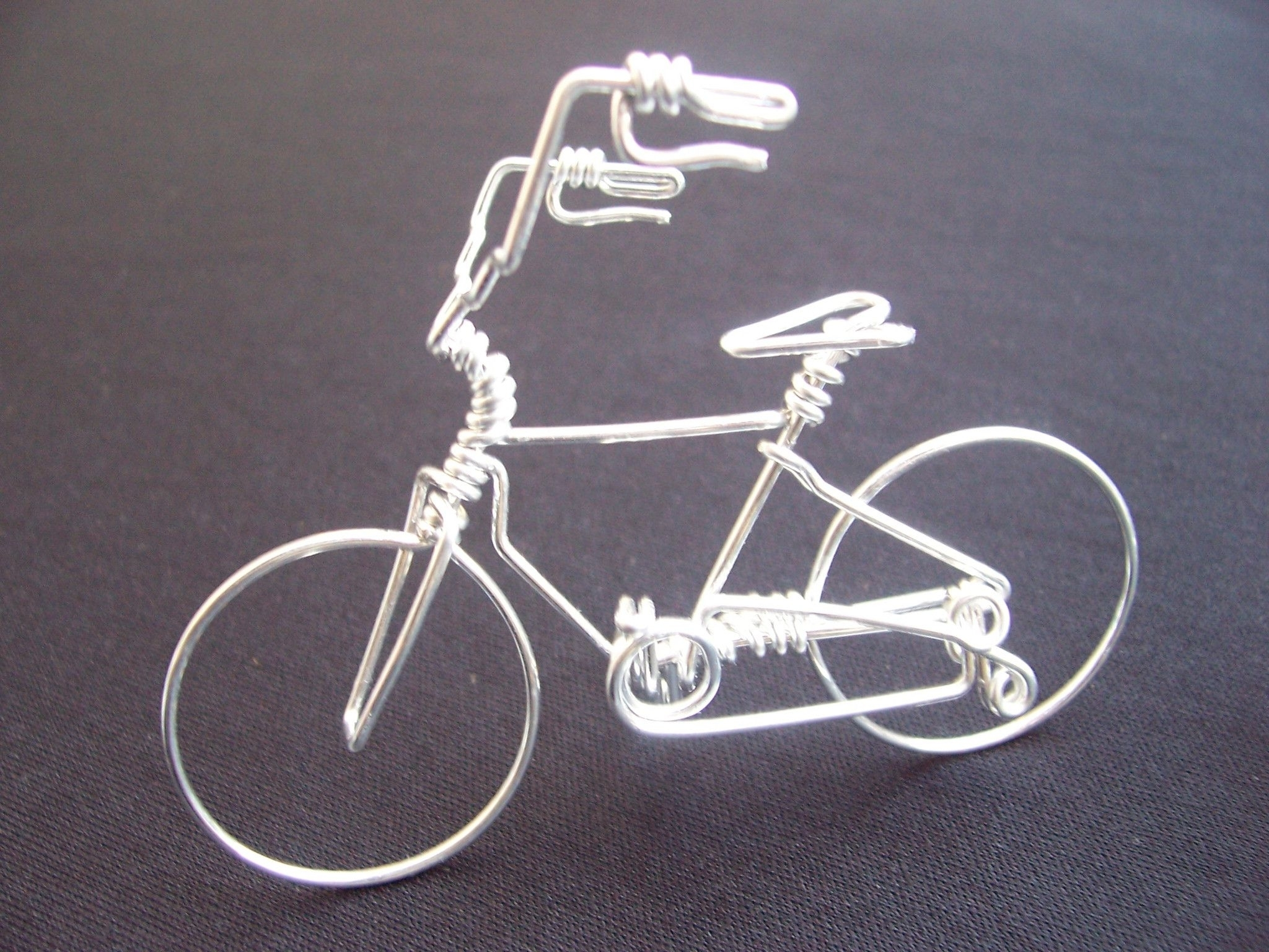 Favorite Metal Bicycle Art Pertaining To High Handlebar Bicycle Wire Art Sculpture (View 3 of 15)