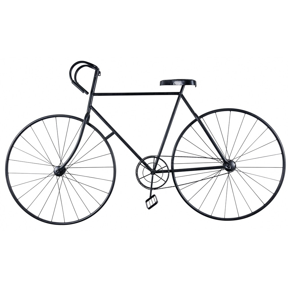 Favorite Metal Bicycle Wall Art Pertaining To Black Metal Bike Wall Art L 186 Cm (View 2 of 15)