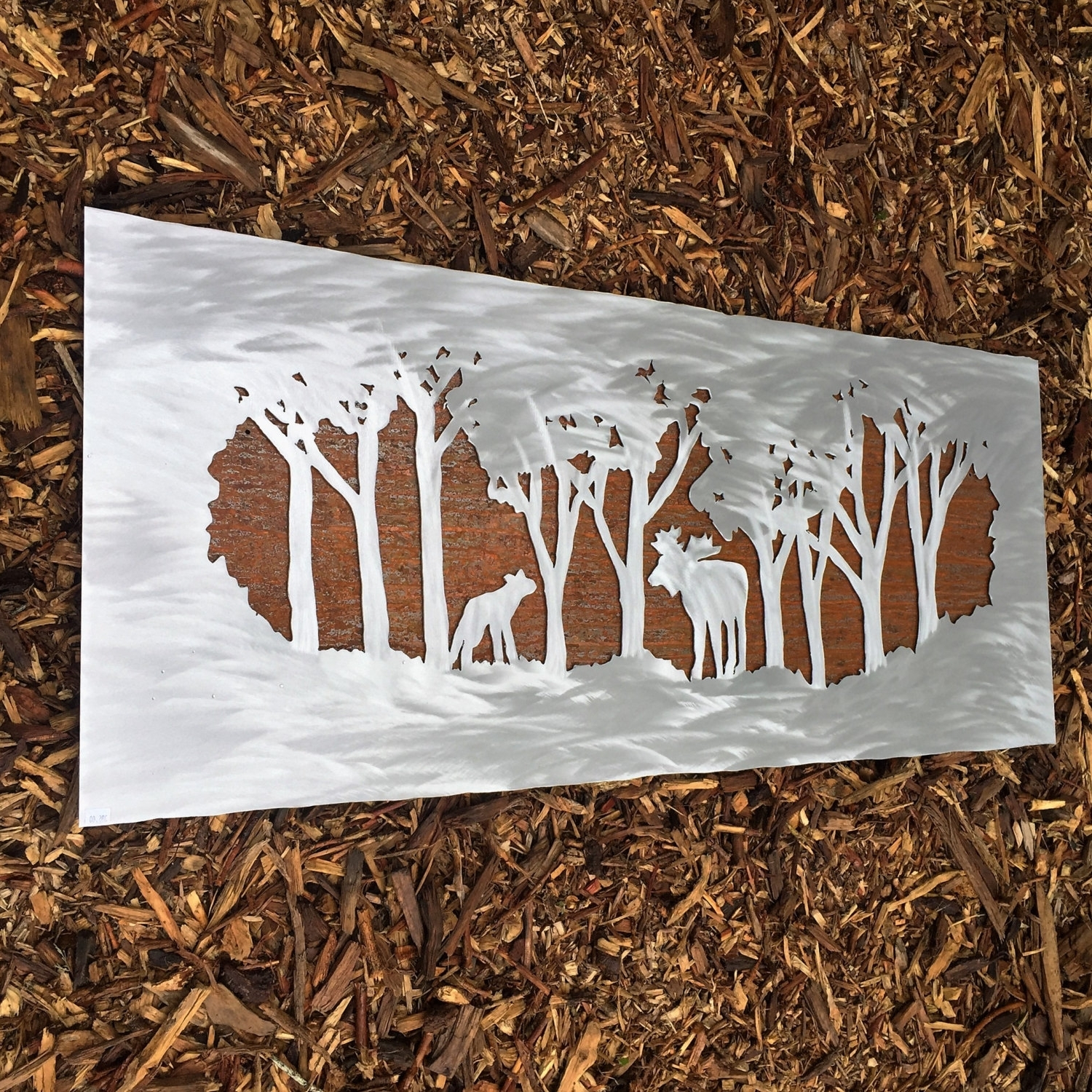 Favorite Metal Wall Art. Moose In Forest. Wall Hanging. Wilderness (View 5 of 15)