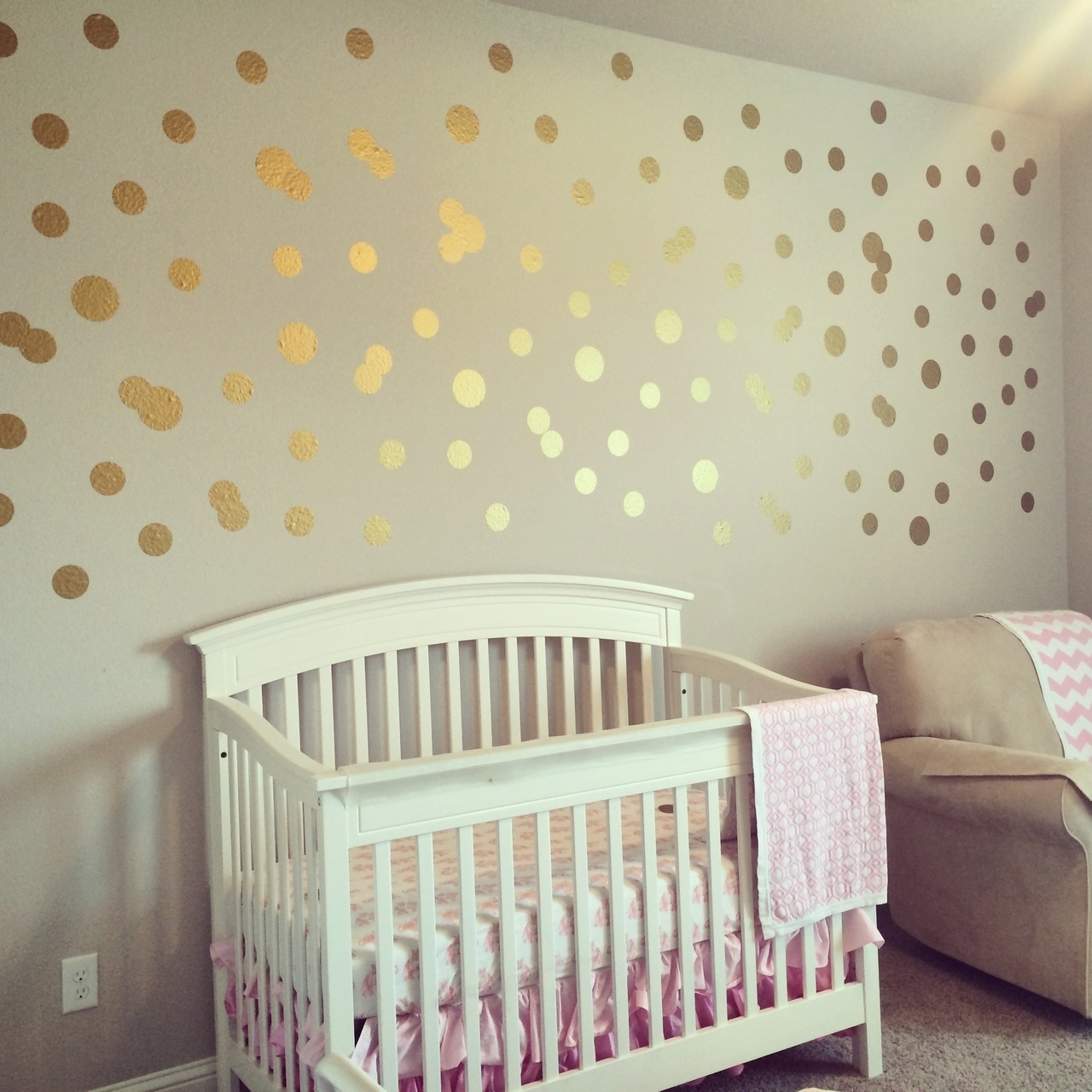 Favorite Metallic Gold Polka Dot Wall Decals (View 11 of 15)