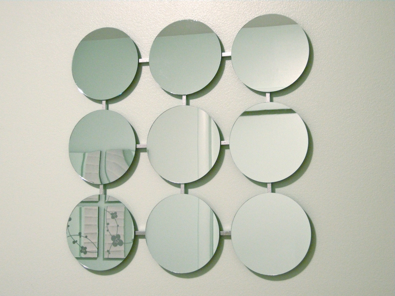 Favorite Mirror Circles Wall Art Intended For Retro Circles Modern Mirror 1960's Eames Era Mid Century Mod New (View 4 of 15)