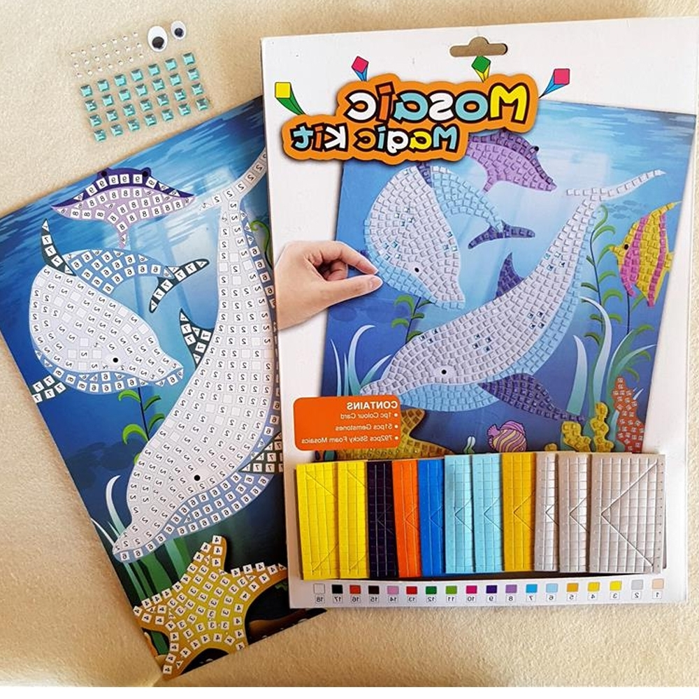 Favorite Mosaic Art Kits For Adults Inside Buy Mosaic Craft Kits Online: Creative Stick On Dolphin Art Kit (View 2 of 15)
