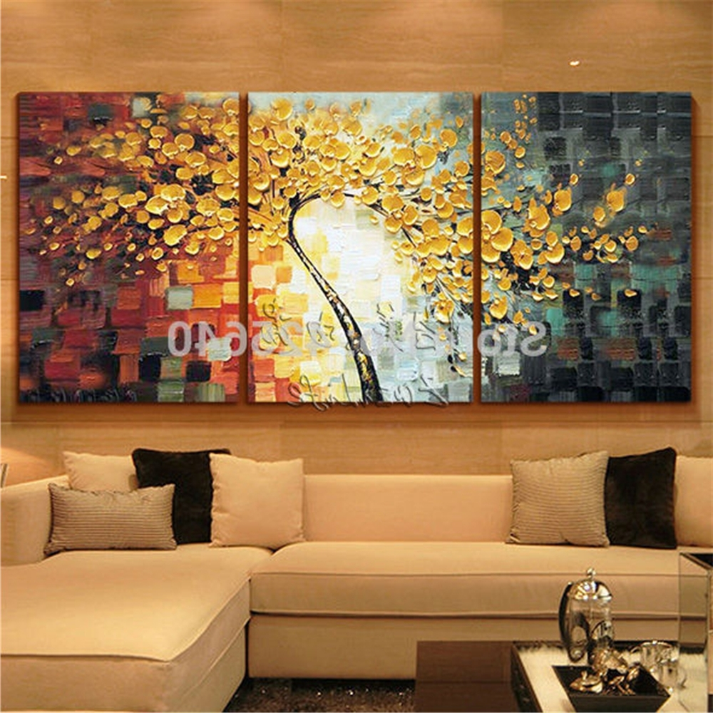 Favorite Multi Piece Canvas Wall Art With Regard To Oil Painting 3 Panel 3 Piece Canvas Cuadros Decoracion Wall Art (View 13 of 15)