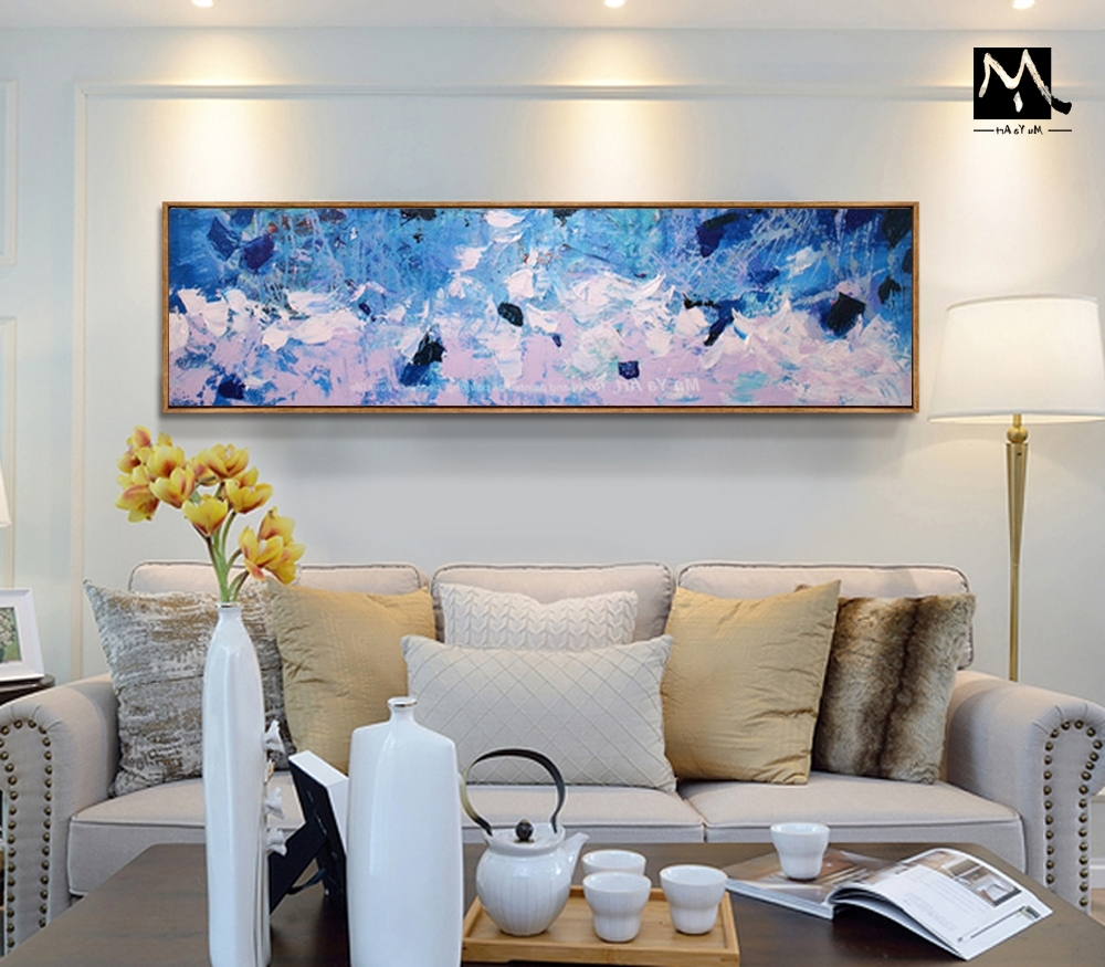 Favorite Muya Hand Painted Extra Large Art Modern Abstract Painting Regarding Large Contemporary Wall Art (View 3 of 15)