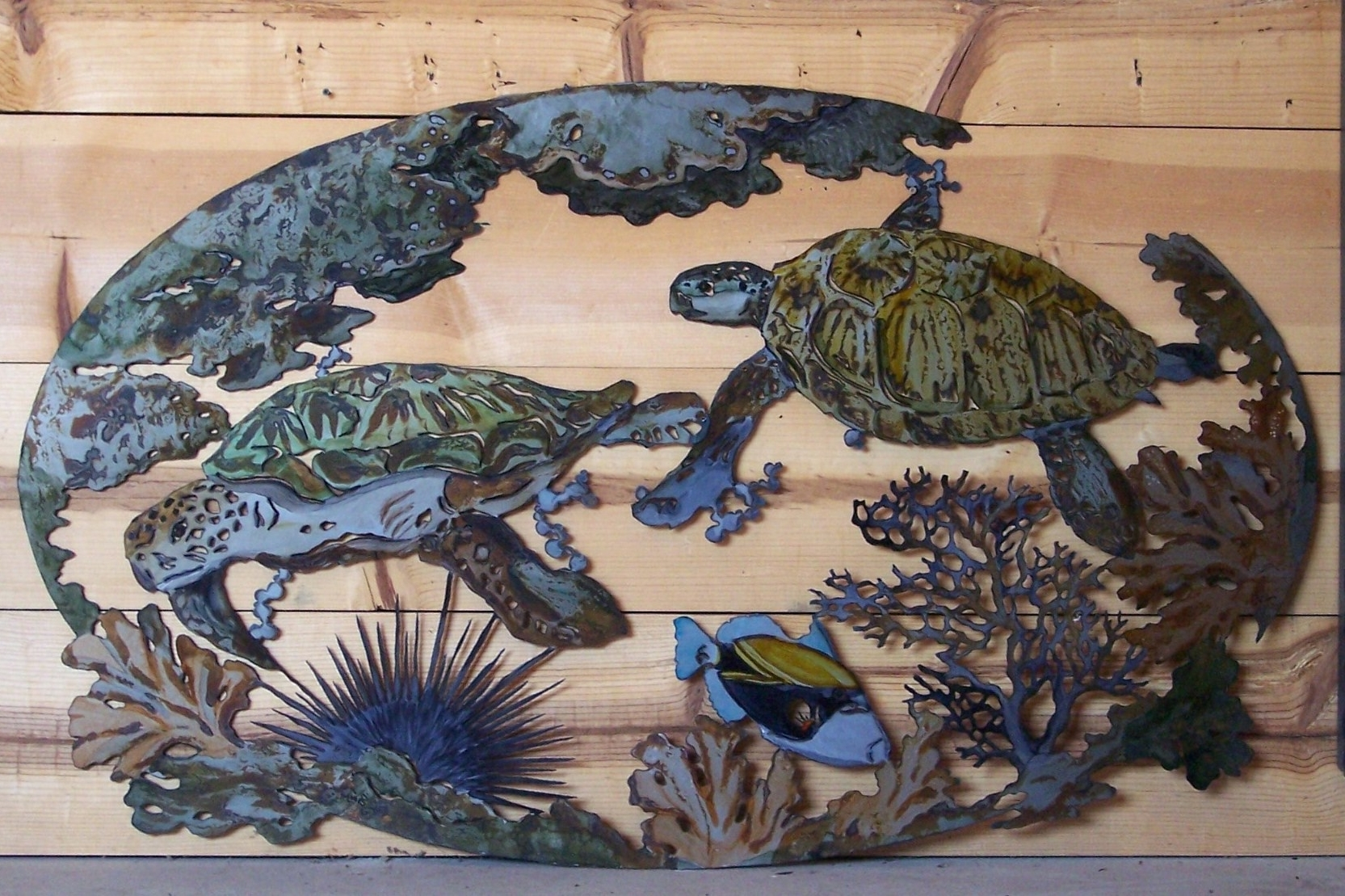 Favorite Outdoor Metal Turtle Wall Art With Wall Arts ~ Outdoor Metal Wall Art Beach Themed Beach Themed Metal (View 13 of 15)