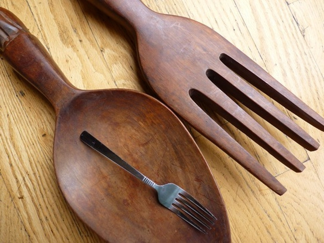 Favorite Oversized Wooden Spoon And Fork Wall Decor • Walls Decor Inside Oversized Cutlery Wall Art (View 2 of 15)
