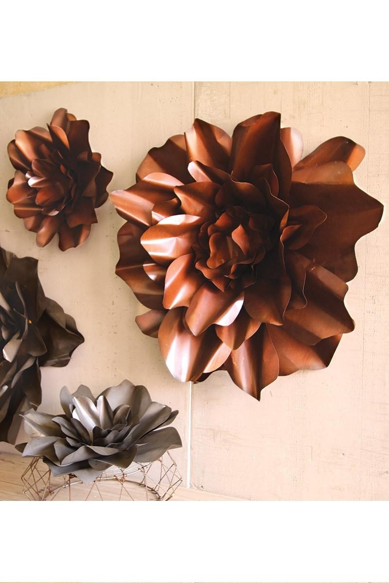Favorite Red Flower Metal Wall Art In Metal Flower Wall Art (View 6 of 15)